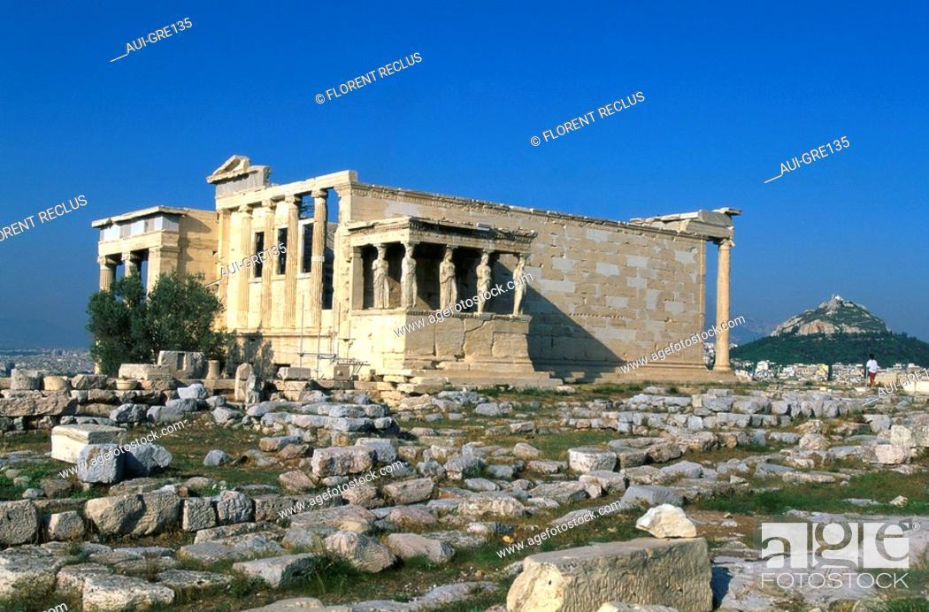Stock Photo: Greece - Athens - Acropolis - Erechteion.