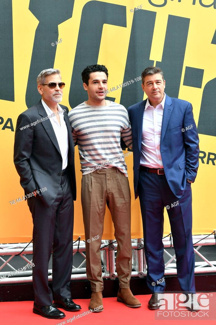 Imagen: George Clooney, Christopher Abbott, Kyle Chandler during 'Catch-22' TV show photocall, Rome, Italy - 13 May 2019.