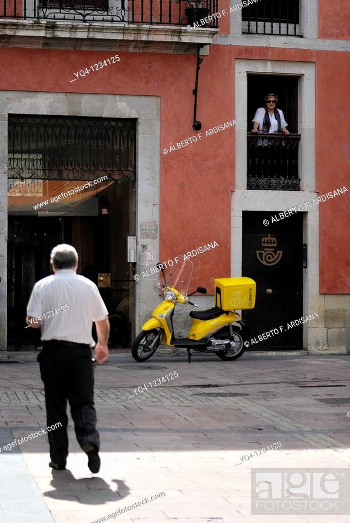 Stock Photo: Post Office Ribadesella, Asturias.