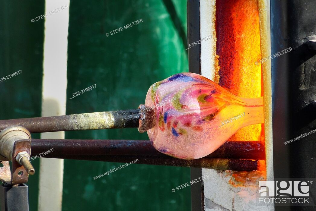 Stock Photo: A Glass kiln.