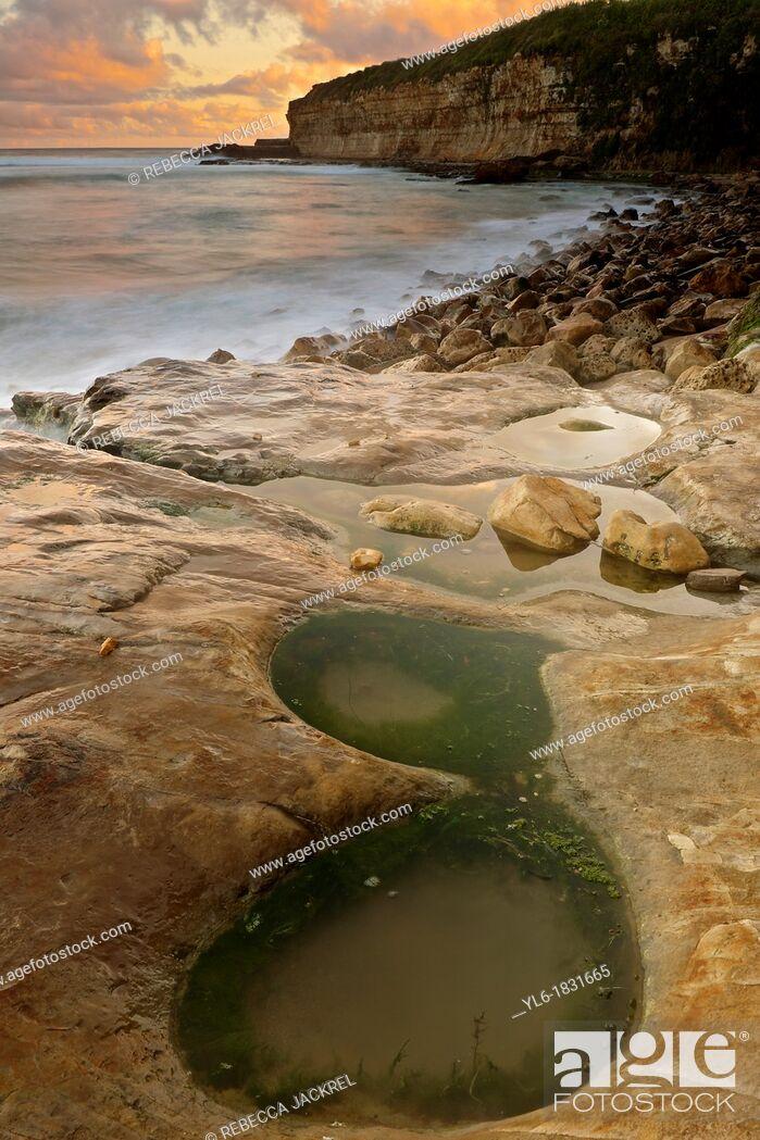 Stock Photo: Tide pool along the California coastline.