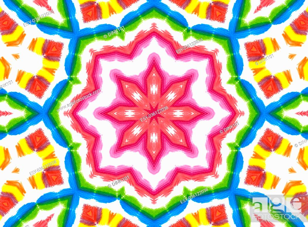 Stock Photo: Background with abstract concentric color pattern.
