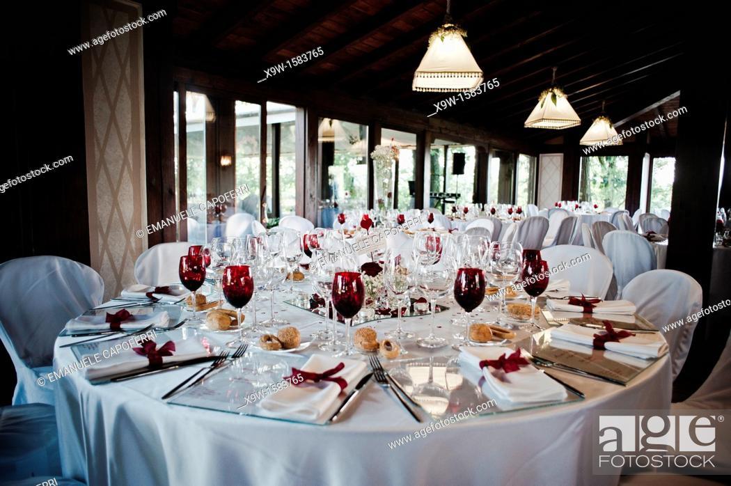 Stock Photo: luxuri restaurant.