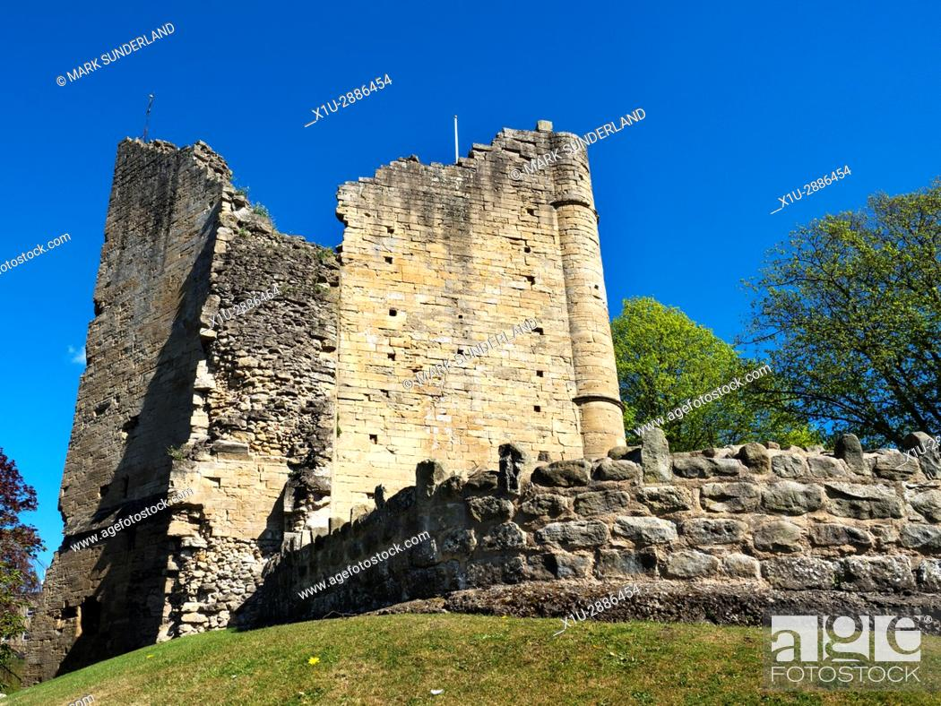 Stock Photo: The Kings Tower at Knaresborough Castle, Knaresborough, North Yorkshire, England.