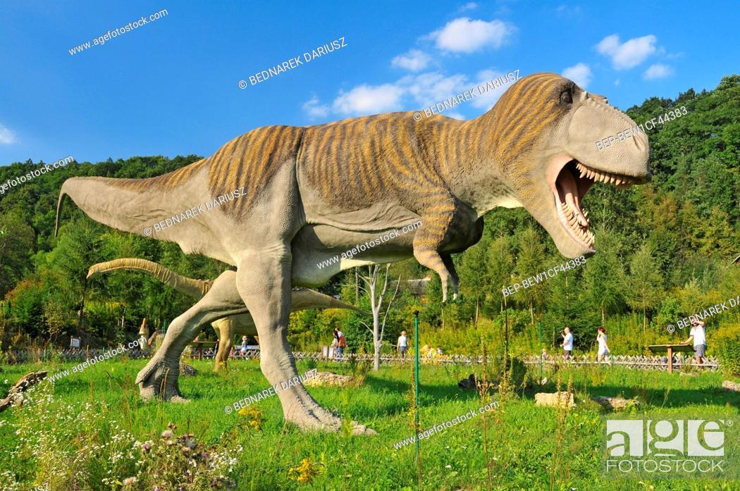 Stock Photo: Jurassic Park in Baltow, Swietokrzyskie Voivodeship, Poland.