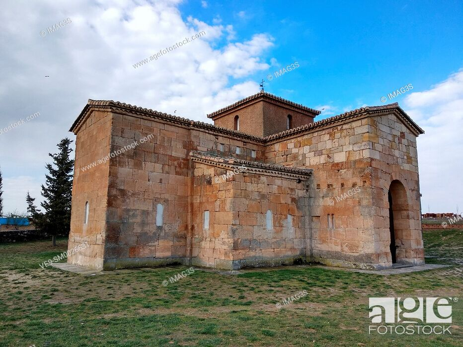 Stock Photo: Visigothic church San Pedro de la Nave 7th century, Campillo, Zamora, Spain.