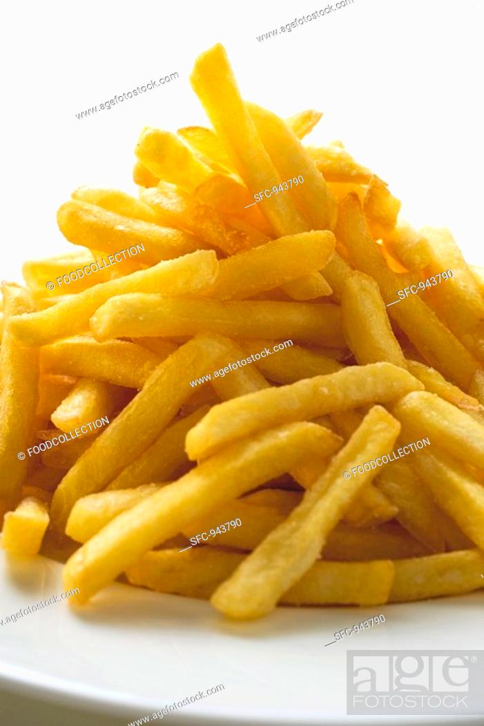 Stock Photo: Chips on a plate.