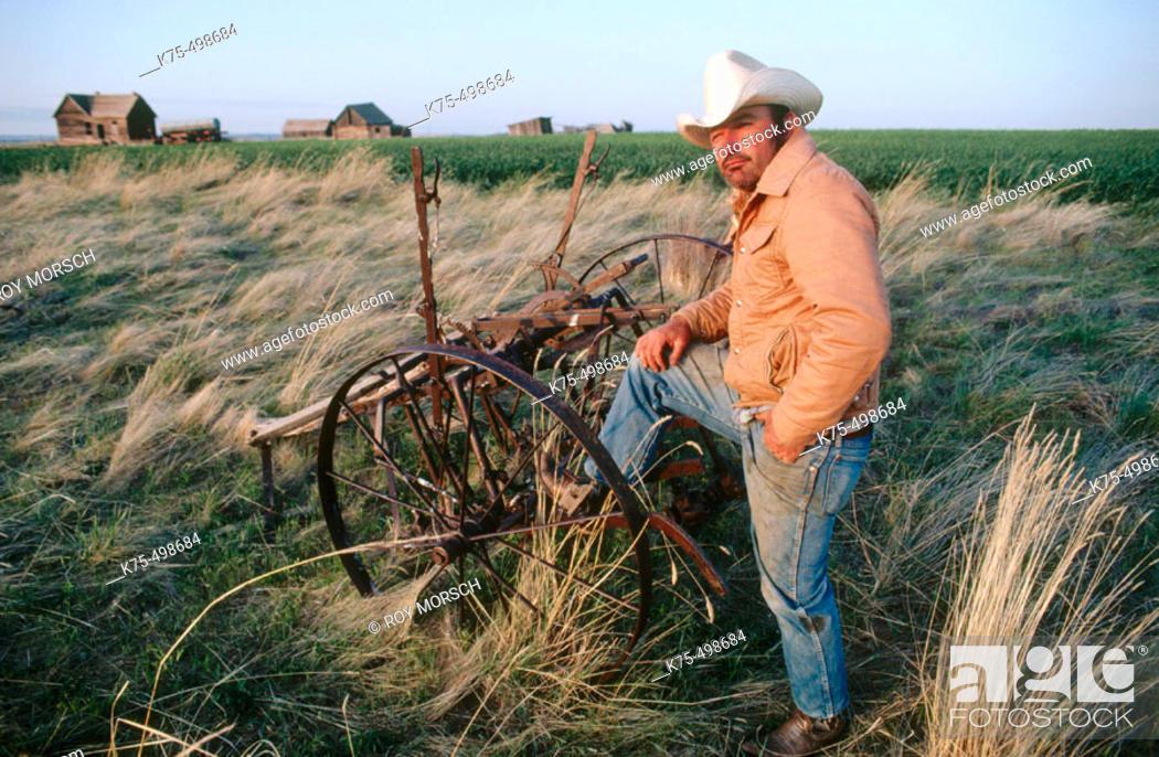 Stock Photo: Cowboys, ranchers. Montana. USA.