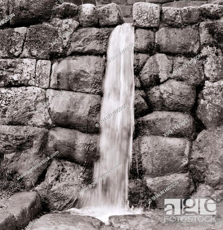 Stock Photo: Incan waterworks at Chinchero, Peru.