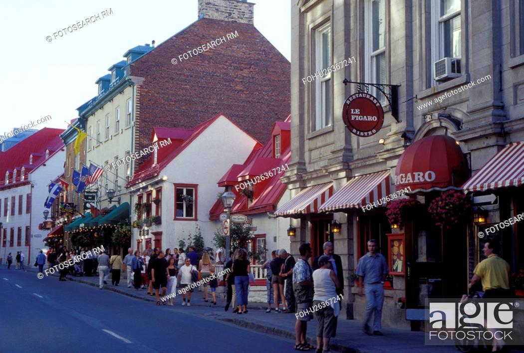 Quebec City Canada Quebec Restaurants And Shops Along Rue St