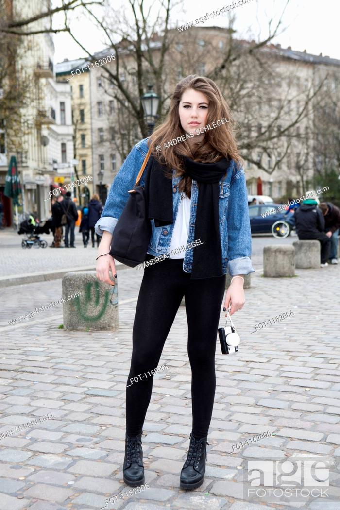 Stock Photo: Photographer girl in Berlin.