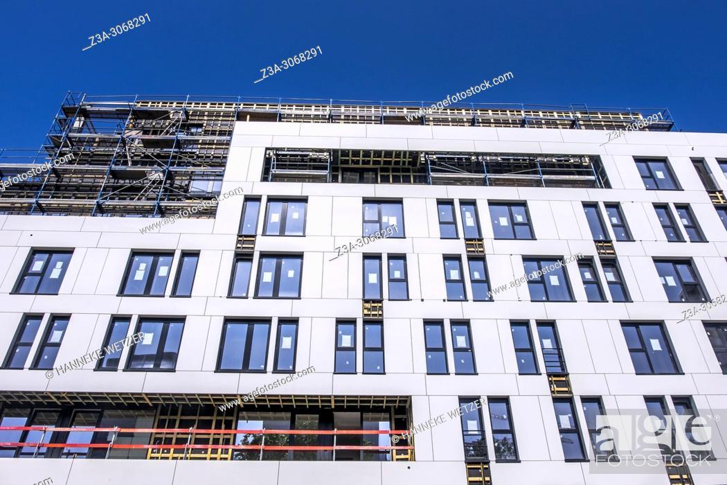 Imagen: Student housing under construction, Brussels, Belgium, Europe.
