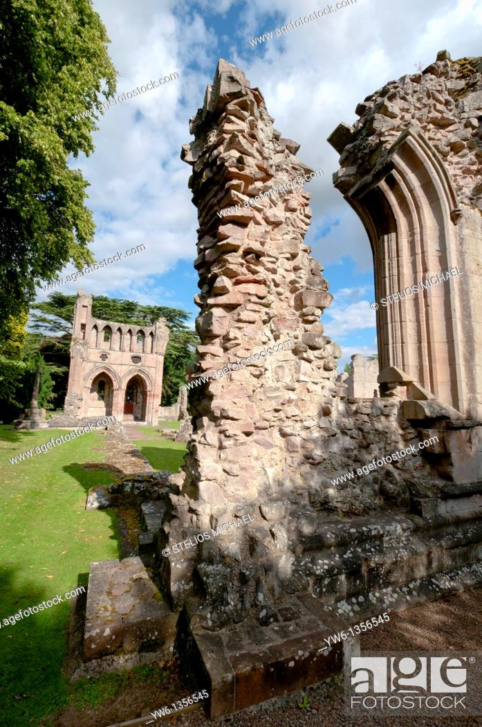 Stock Photo: The ruins of Dryburgh Abbey in Scotland.