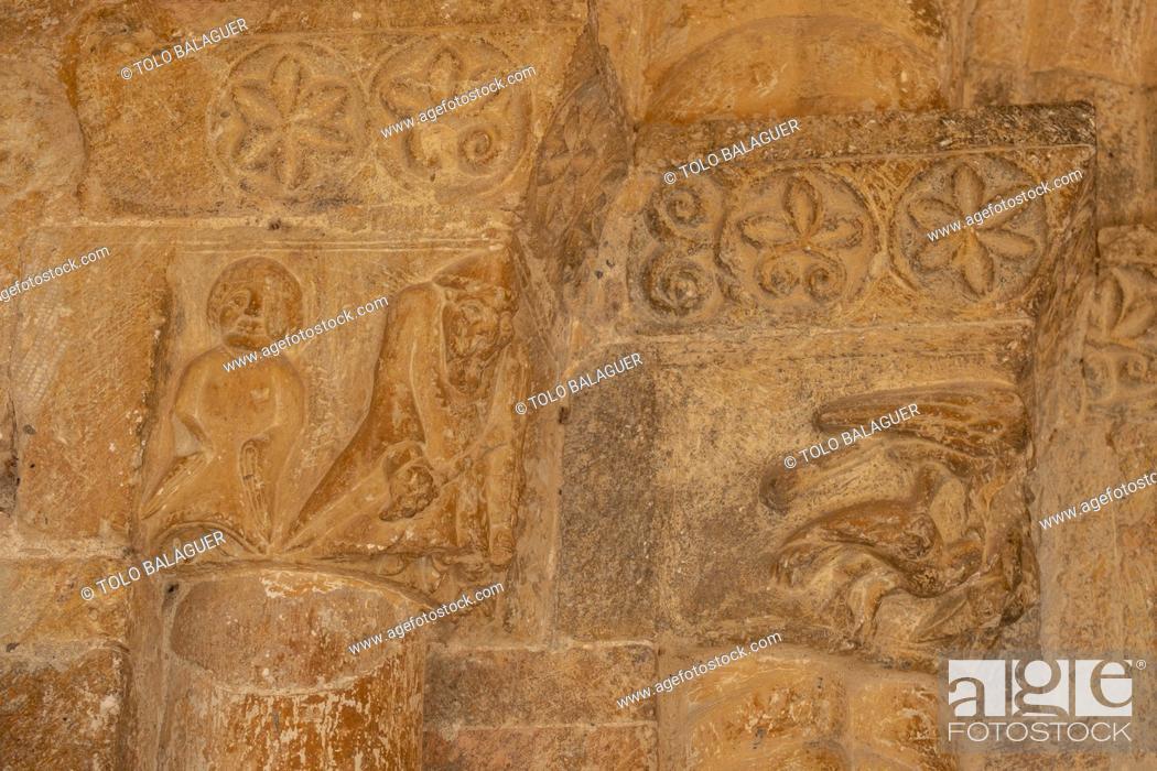 Photo de stock: Iglesia de Nuestra Señora del Rivero, 12th century, San Esteban de Gormaz, Soria, Comunidad Autónoma de Castilla, Spain, Europe.