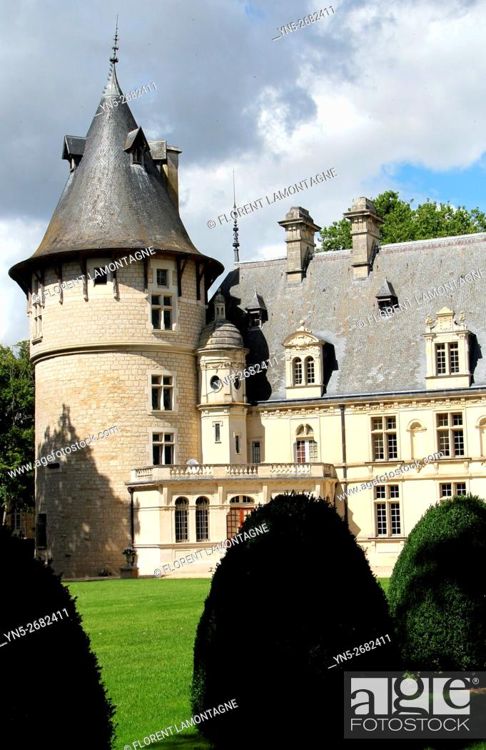 Stock Photo: France, Castle of Beauregard in Montigny sur Aube, Burgundy where used to stay the american president harry Truman.