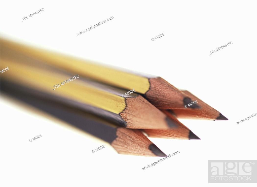 Stock Photo: A bundle of pencils, close-up.