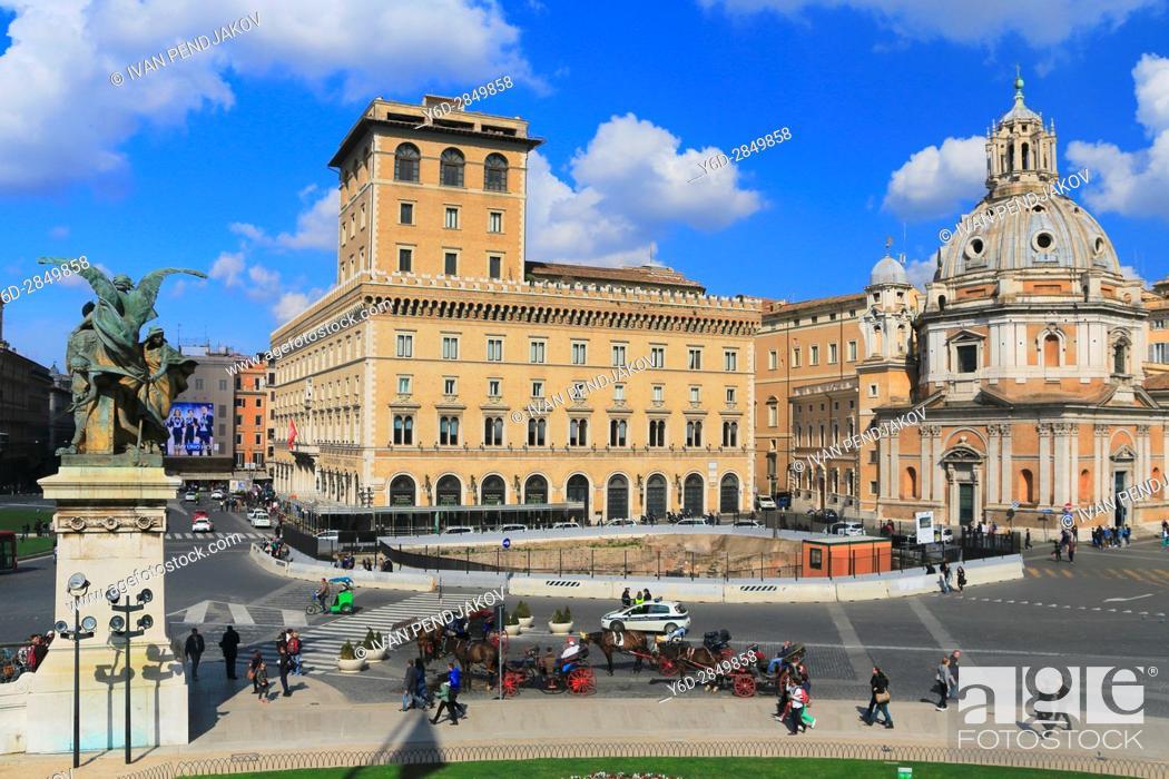 Stock Photo: Piazza Madonna di Loreto, Rome, Italy.