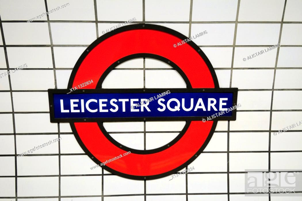 Leicester Square Underground Tube Station Sign Symbol London