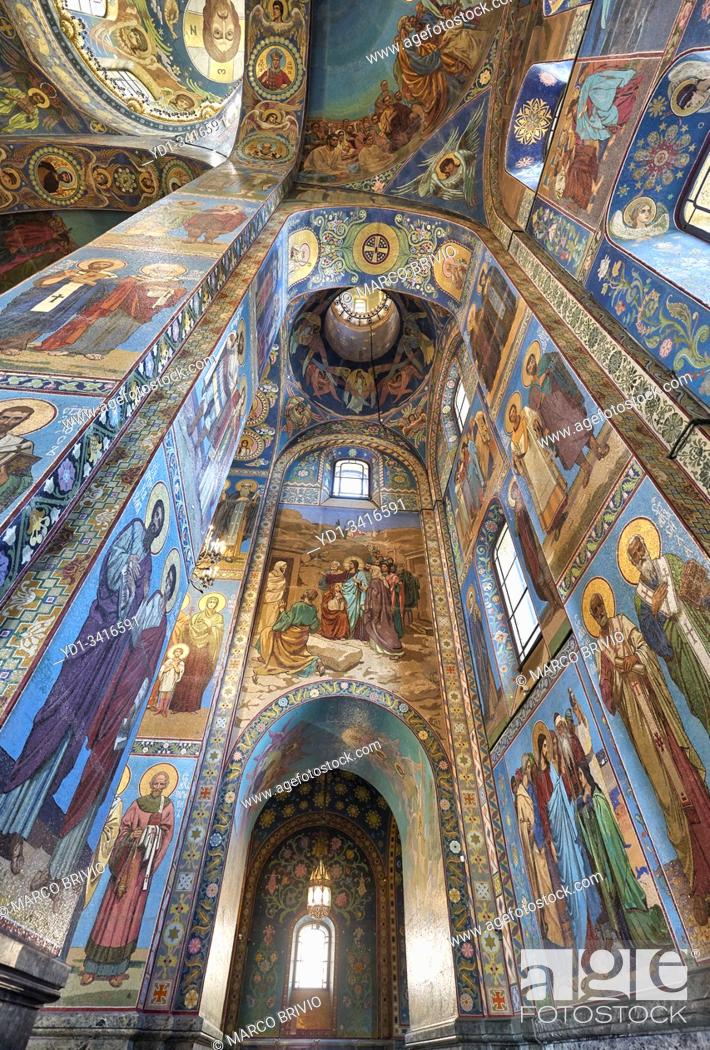 Stock Photo: St. Petersburg Russia. Church of the savior on the spilled blood.
