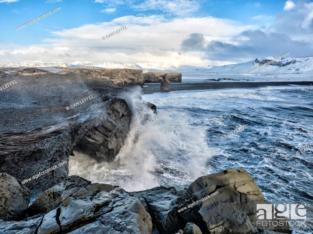 Stock Photo: Iceland Dyrholaey Peninsula.