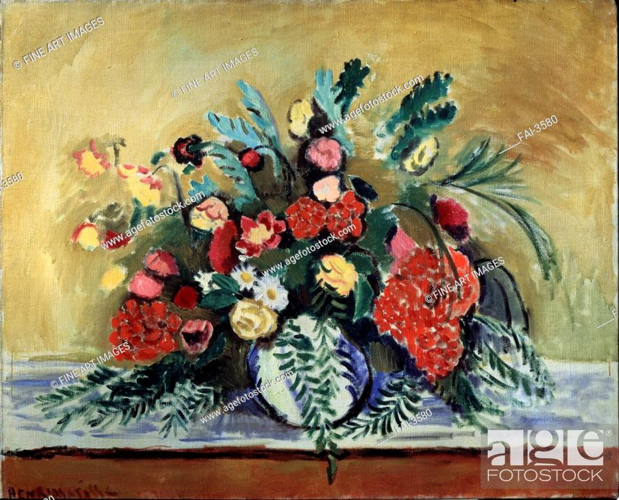 Bunch Of Flowers In A White Vase Matisse Henri 1869 1954 Oil On