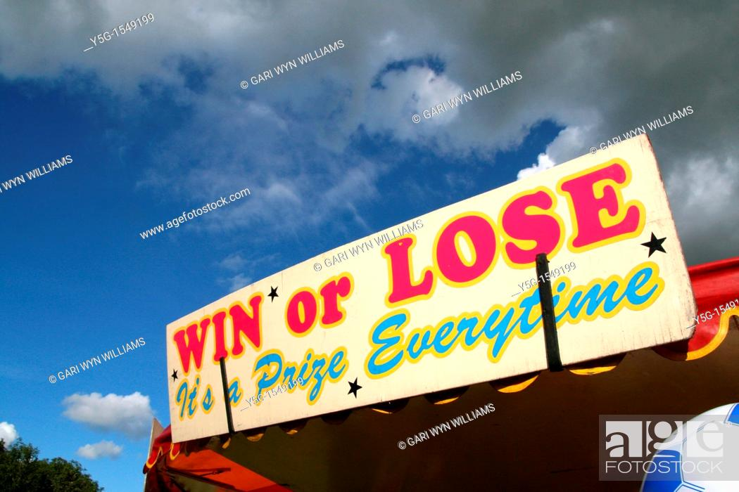 Stock Photo: fun fair at anglesey county agricultural show wales uk 2011.