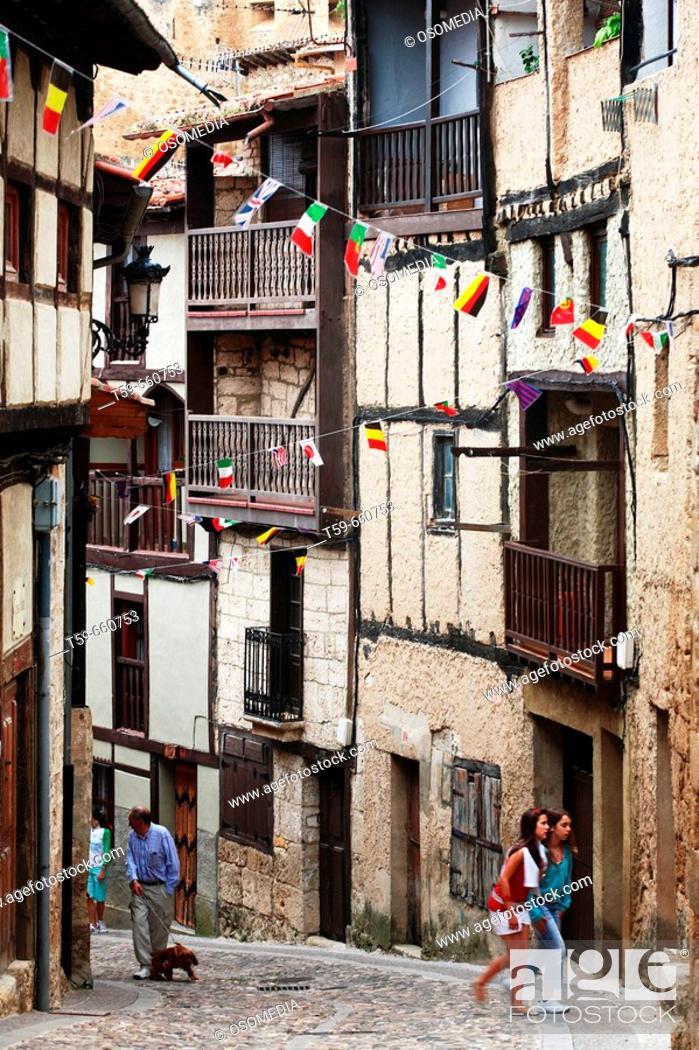 Stock Photo: Frías. Burgos province. Castilla y León. Spain.