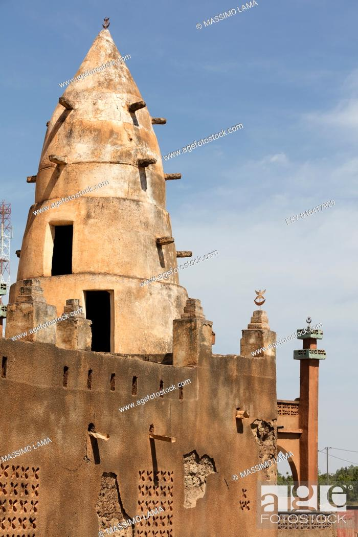 Stock Photo: Mosque in a village in Burkina Faso.