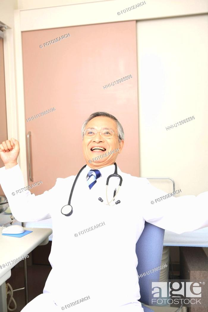 Stock Photo: Doctor stretching itself.