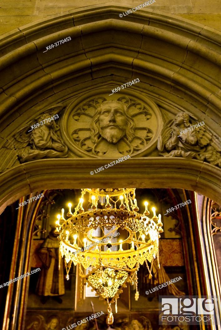 Stock Photo: Detail. St. Wenceslas Chapel. . St. Vitus Cathedral. Prague. Czech Republic.