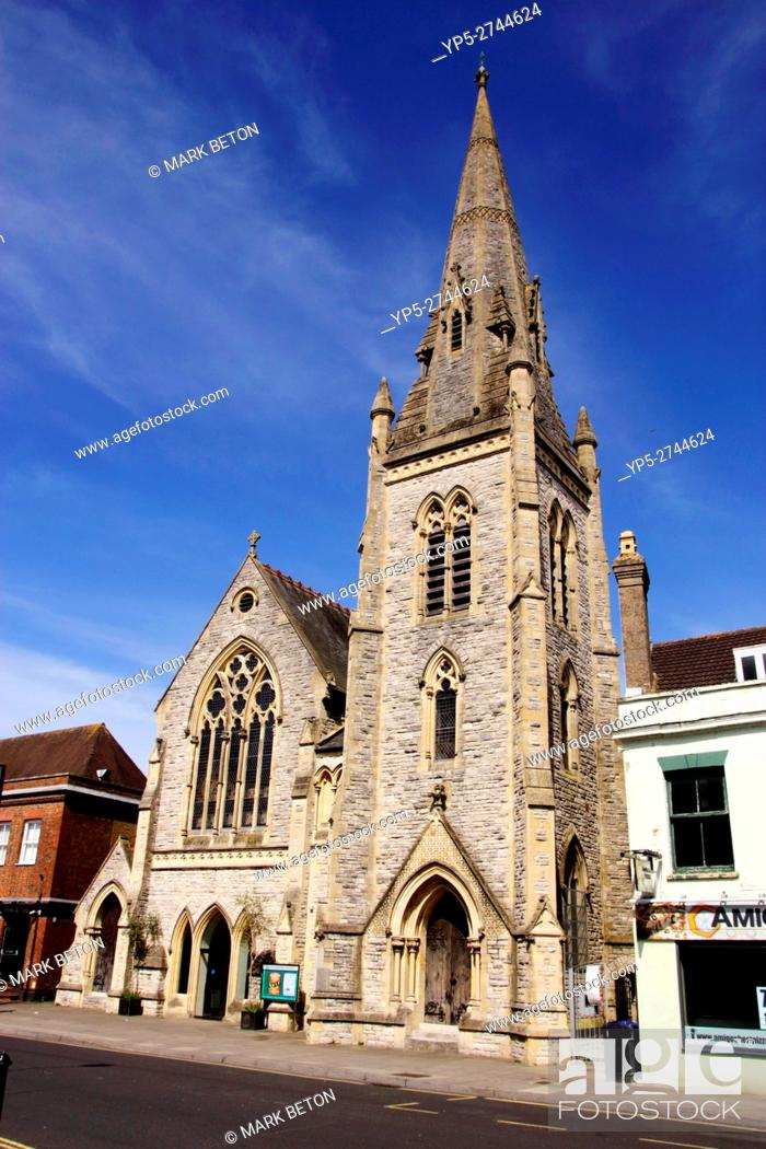 Stock Photo: United Reformed Church Salisbury Wiltshire.