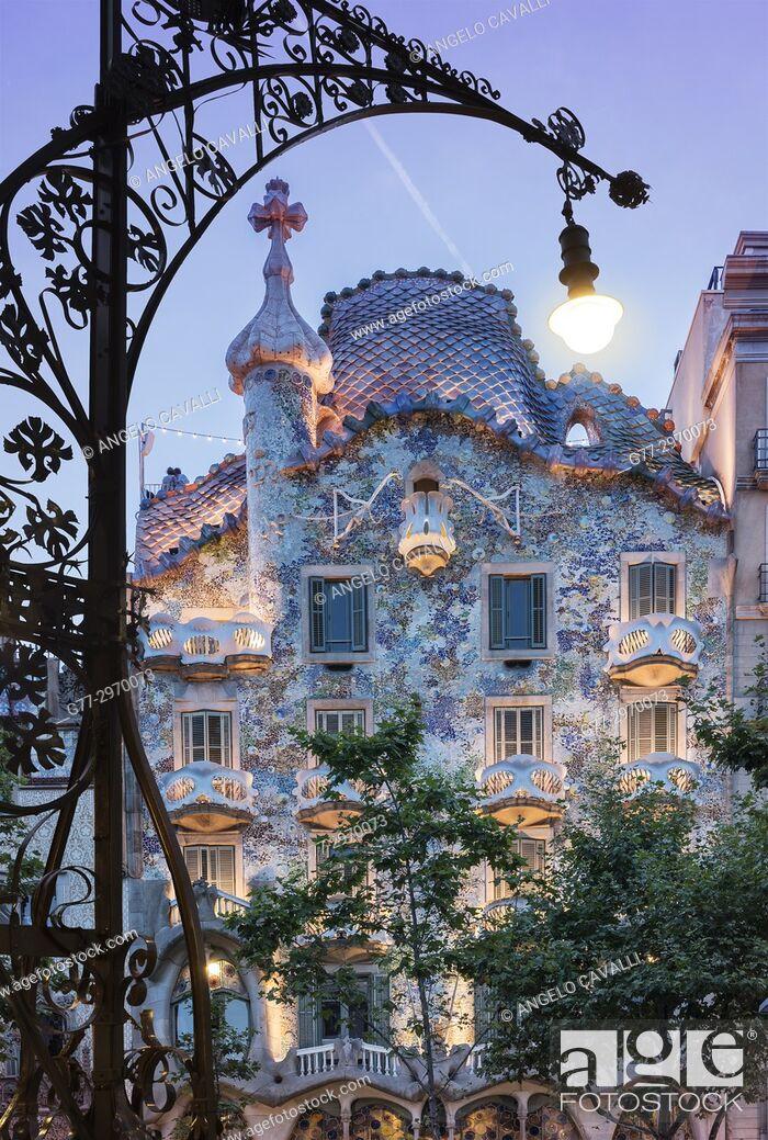 Photo de stock: Casa Batllo, Barcelona, Spain.