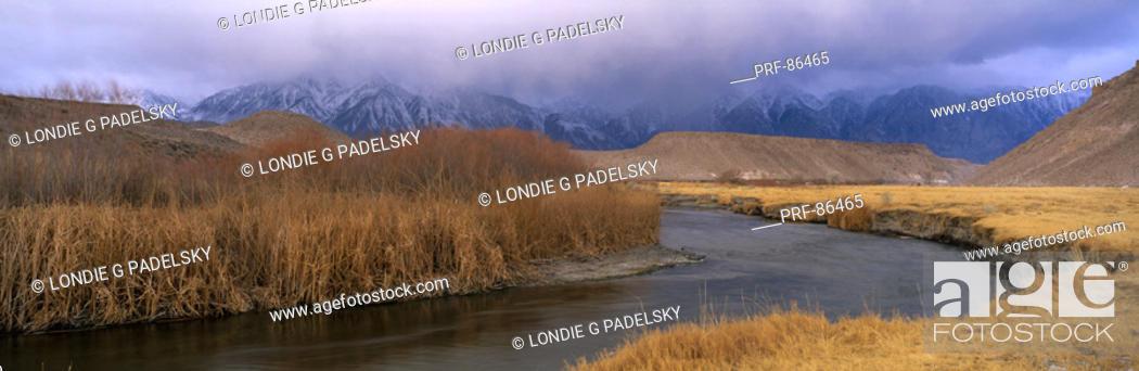 Stock Photo: Owens River Valley Bishop CA.