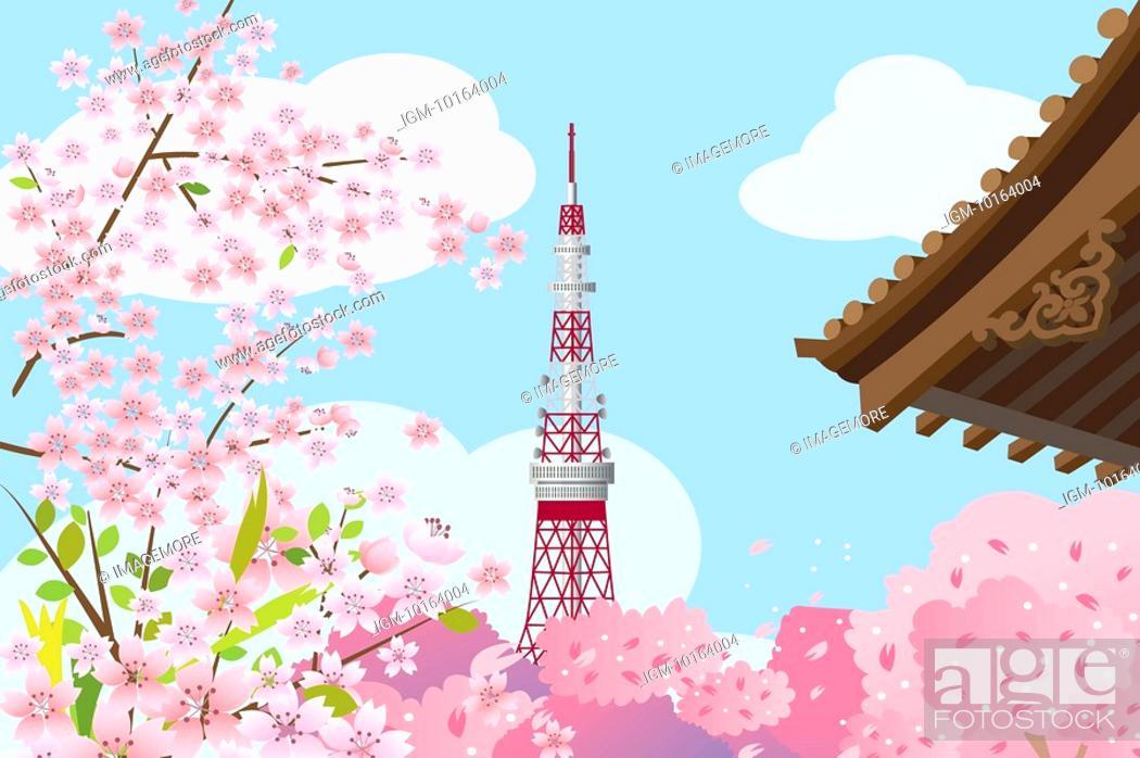 Stock Photo: Japan, Tokyo, Tokyo Tower, Capital Cities.