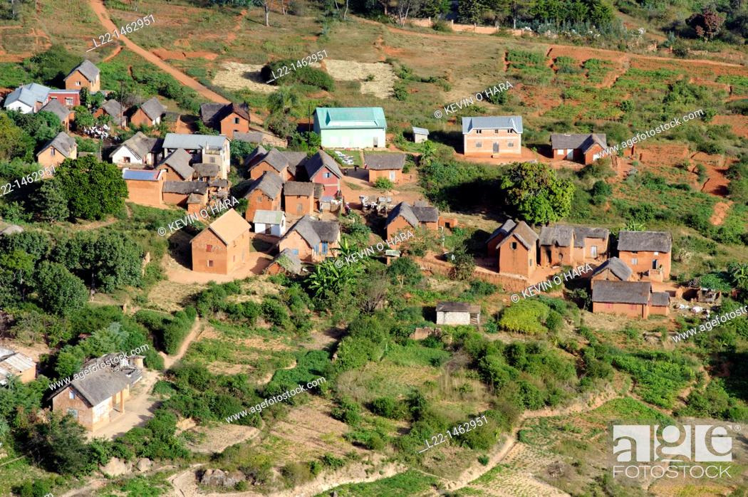 Stock Photo: Overview from the Royal Hill of Ambohimanga, a site of cultural and historical significance located approximately 24 kilometers to the east of the capital city.