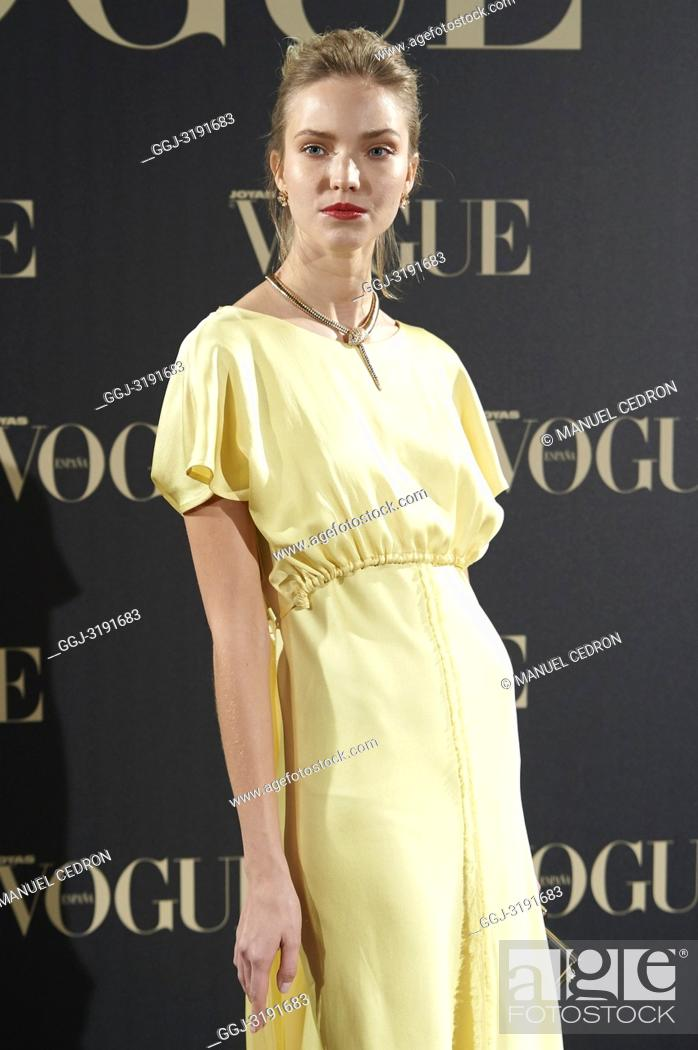 Stock Photo: Sasha Luss attends Vogue joyas awards photocall at Madrid at Palacio de Santoña on November 29, 2018 in Madrid, Spain.