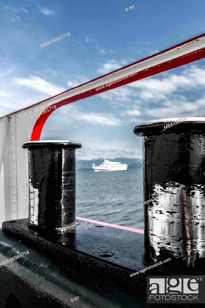 Stock Photo: Bollard on Lake Constance ship.