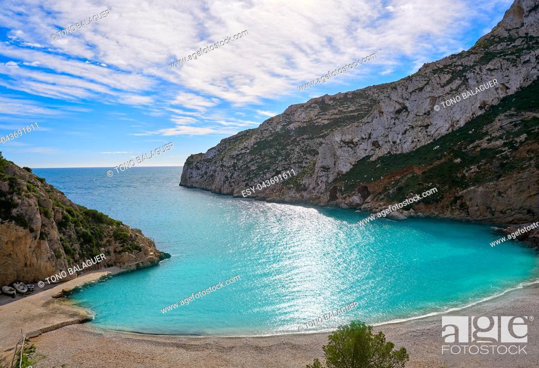 Imagen: La Granadella beach in Mediterranean Javea also Xabia in Alicante Spain.