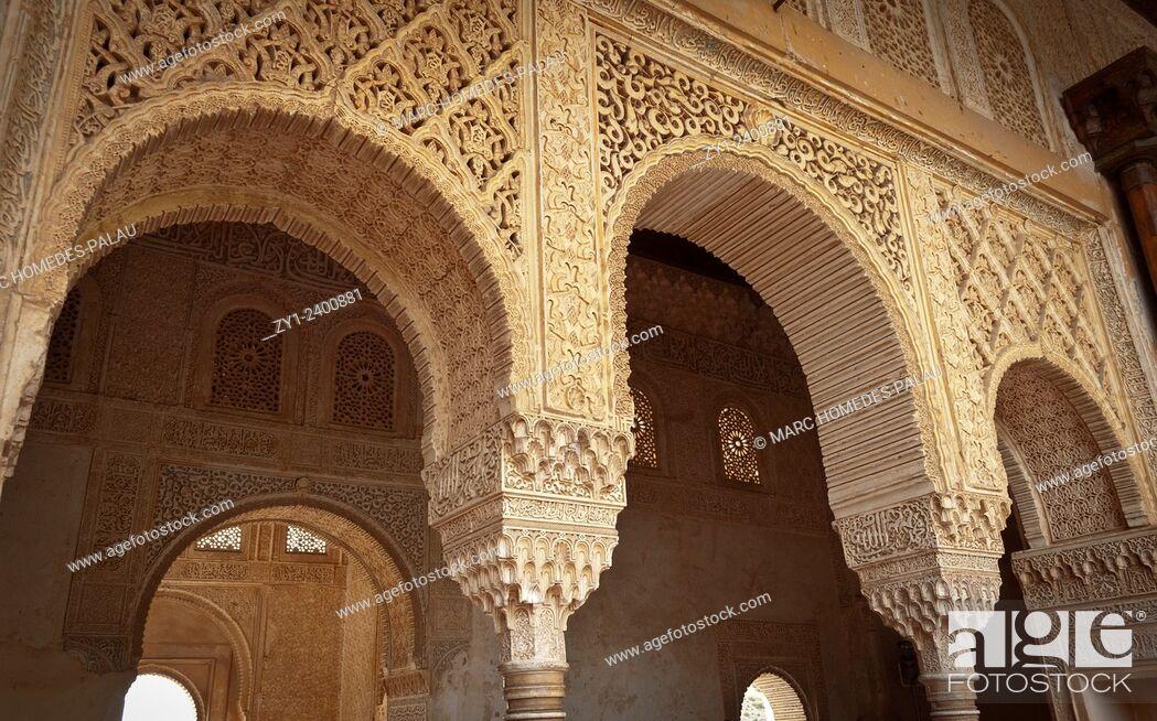 Stock Photo: Gardens of Generalife (Alhambra), Granada. Andalucia, Spain.