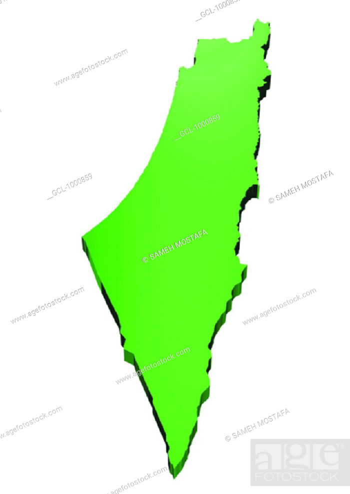 Stock Photo: map of Palestine.