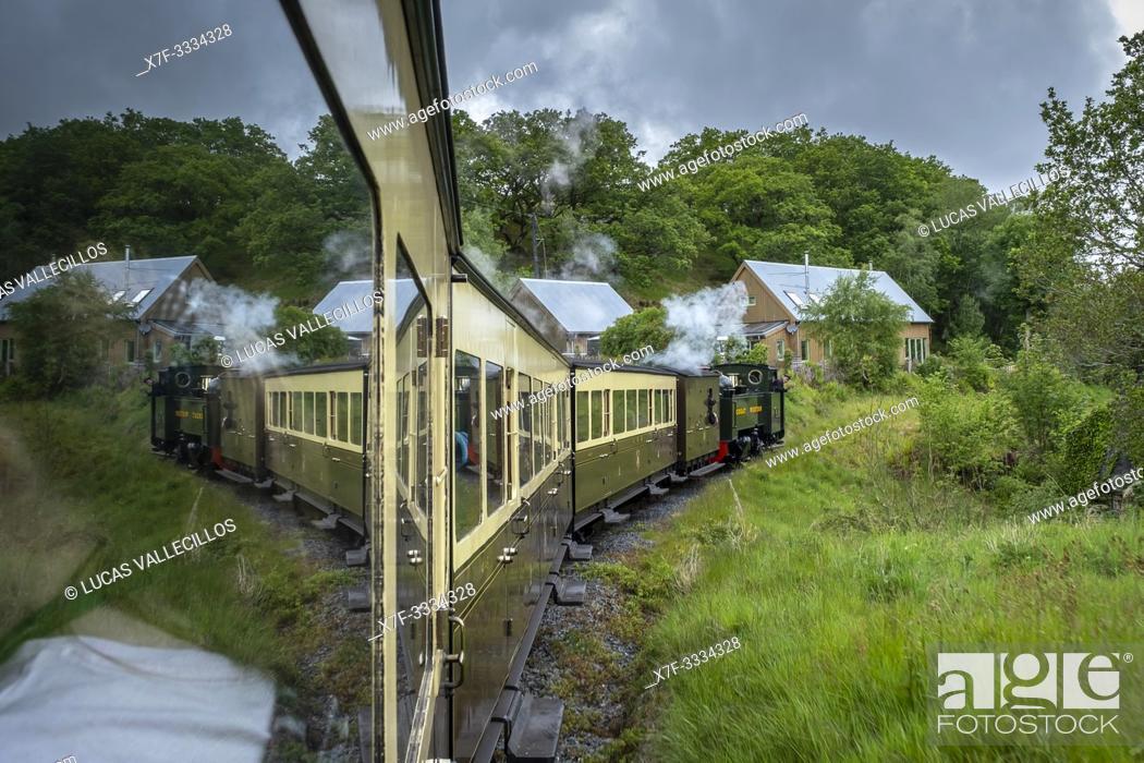 Stock Photo: Vale of Rheidol Steam Railway, Ceredigion, Wales.