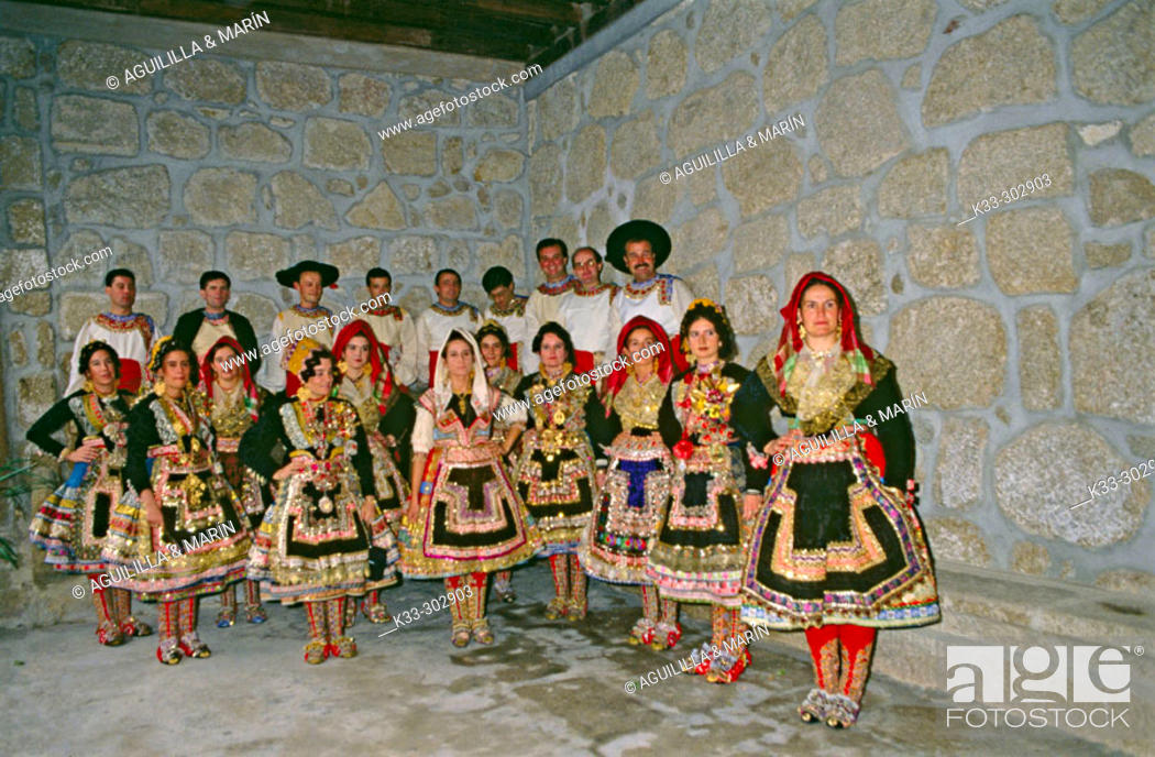 Stock Photo: 'Lagartera' costumes. Toledo. Castilla-La Mancha. Spain.