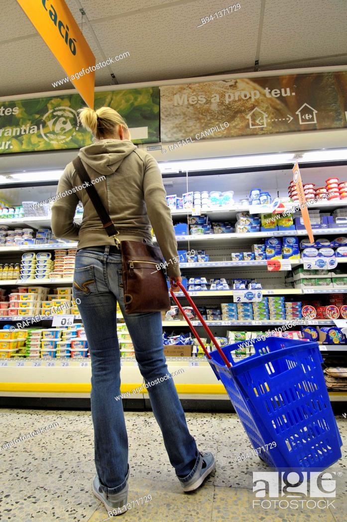 Stock Photo: Supermarket. Barcelona, Catalonia, Spain.