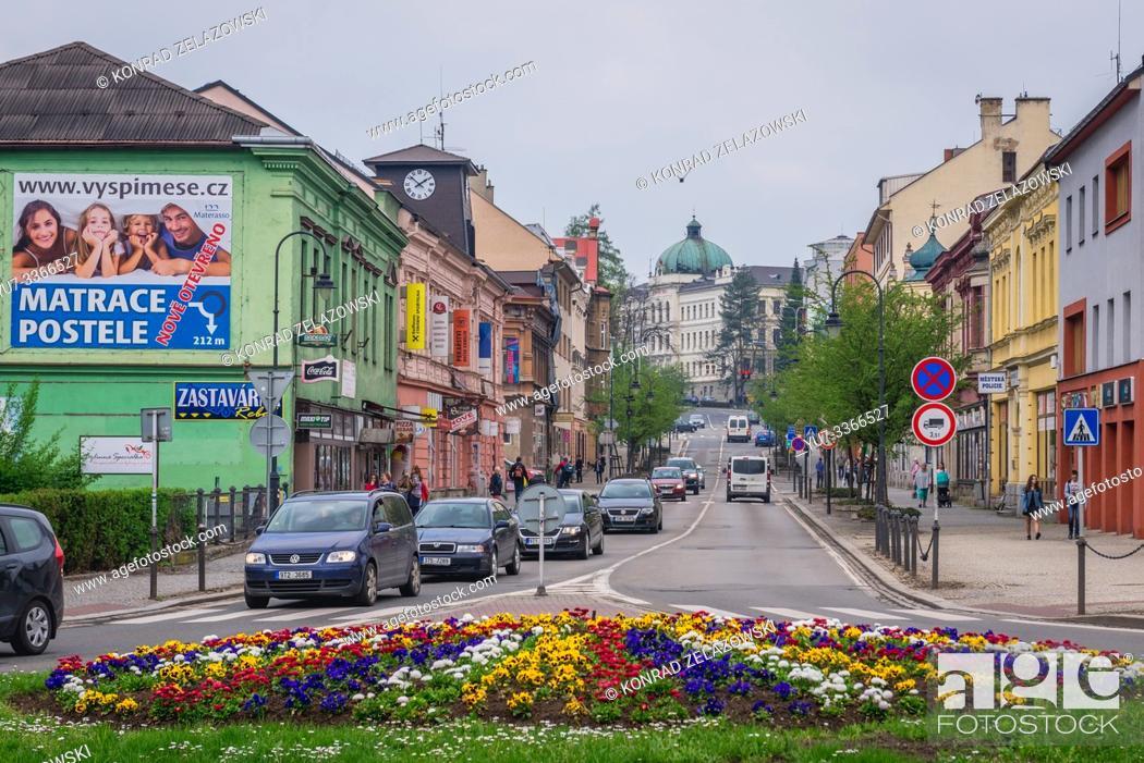 Stock Photo: Frydek-Mistek city in the Moravian-Silesian Region of Czech Republic.