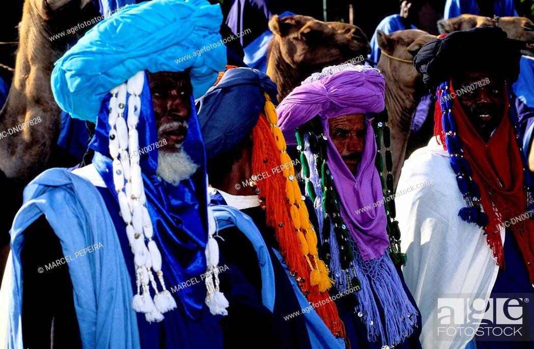Stock Photo: Morocco, Marrakech, tuaregs.