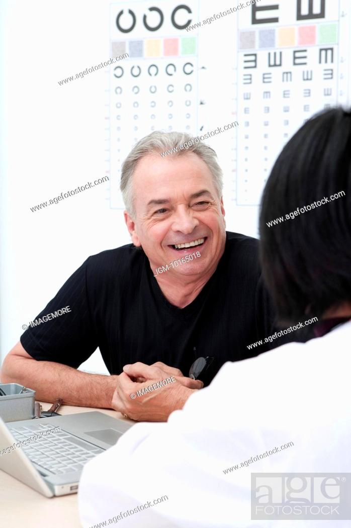 Stock Photo: Domestic Life, a senior man consulting the doctor.