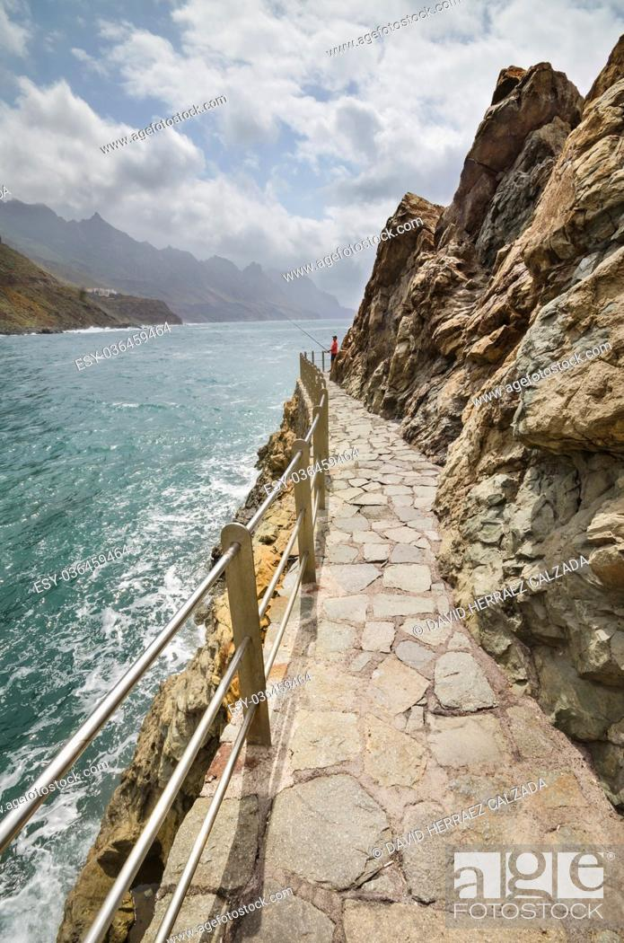Stock Photo: Coast Landscape in Taganana beach, north Tenerife Island, Tenerife, Canary islands, Spain.