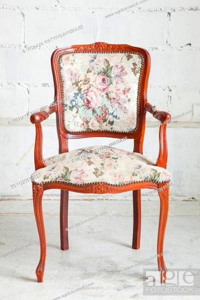 Stock Photo: vintage armchair.
