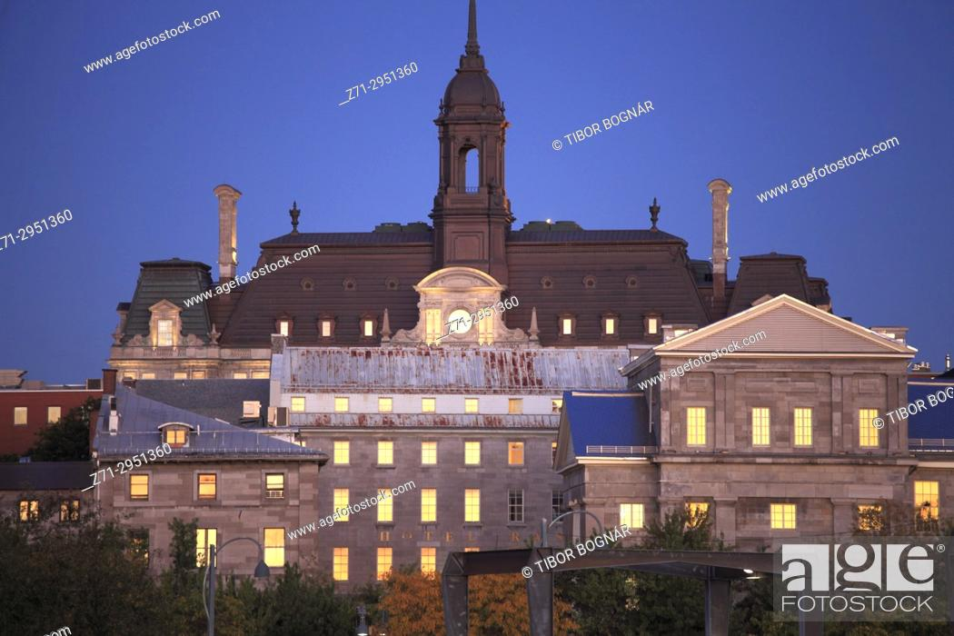 Stock Photo: Canada, Quebec, Montreal, City Hall, Old Montreal,.