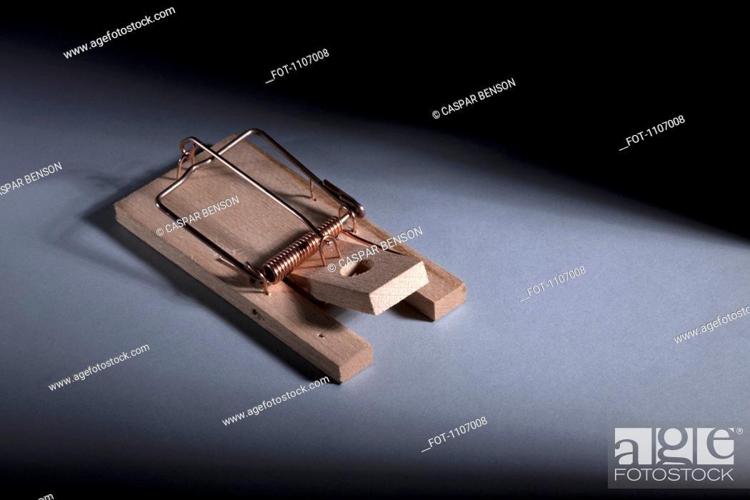 Stock Photo: A mousetrap.
